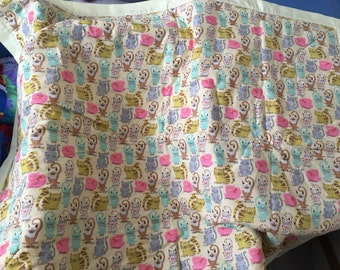 Handmade Cats Cats and More Cats Toddler Bed Crib size Lap Blanket