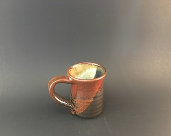 Ceramic Mug - Black Red and White