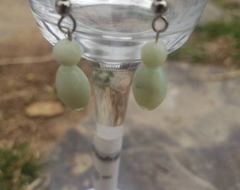 Lime Green bead earrings
