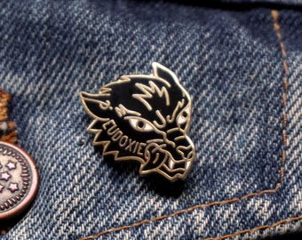 Pin's WOLF / Noir-Or / EUDOXIE Motorcycle Gear
