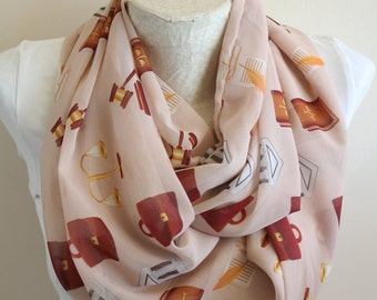 Lawyer Infinity Scarf Scales of Justice Unique Fashion Accessories Handmade Women Scarves Lawyer Gift Attorney Gift