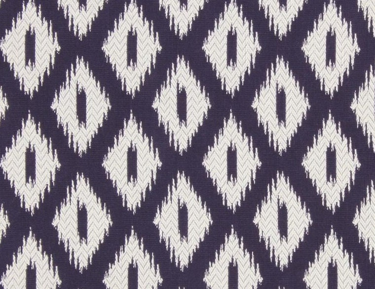 Navy Blue Ikat Upholstery Fabric for Furniture - Modern Dark Blue ...