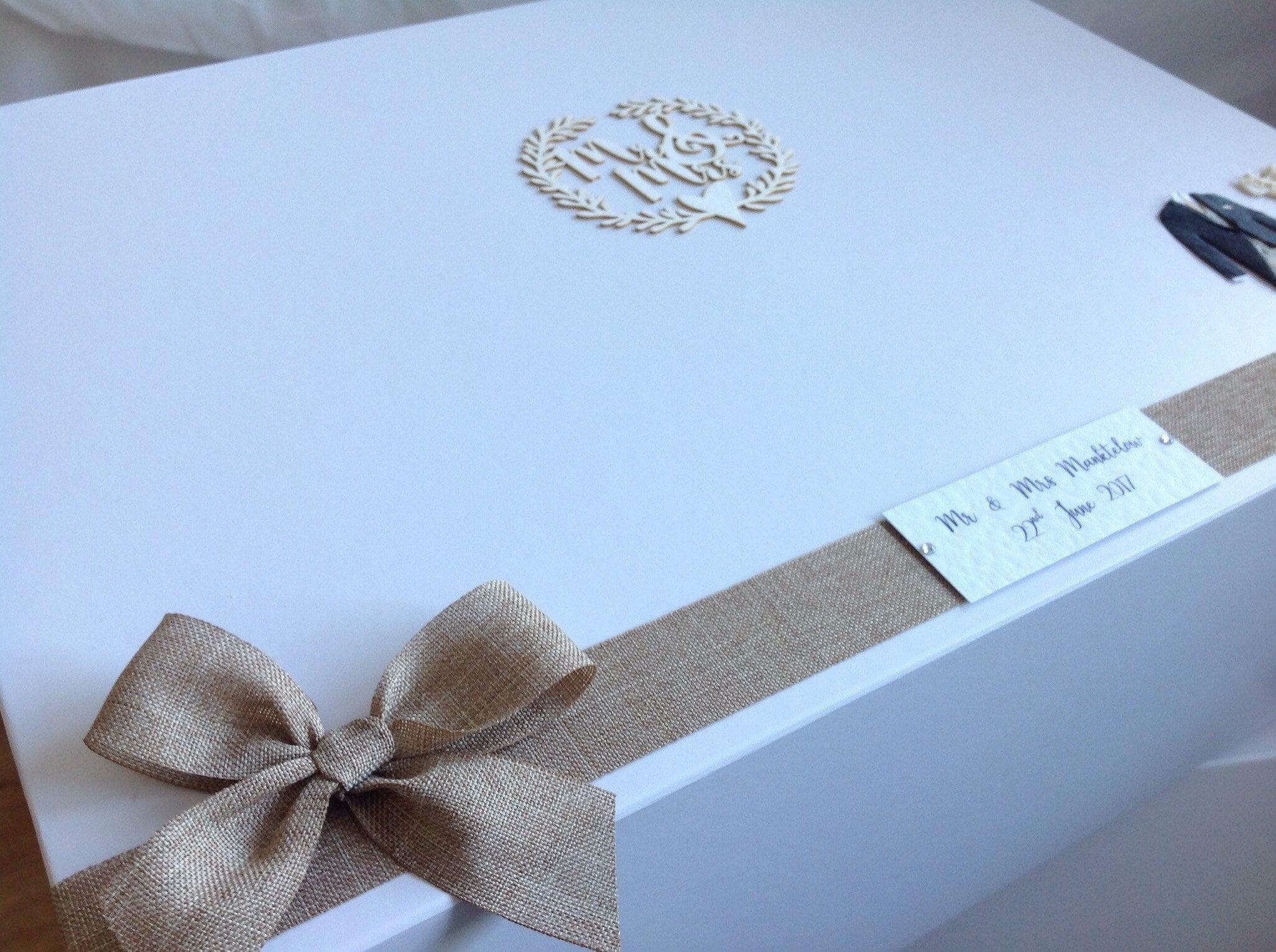 EXTRA LARGE wedding keepsake box, personalised with Bride & Groom\'s ...