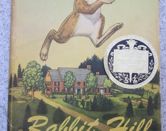 """1944 """"Rabbit Hill"""" By Robert Lawson Newbery Medal Wonderful Illustrations Children's Book with Dust Jacket"""