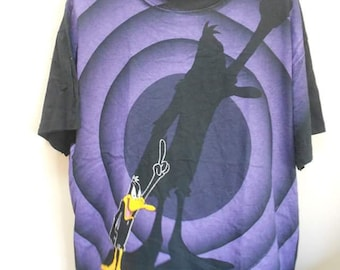 VINTAGE DAFFY DUCK fullprint Warner Bros t shirt