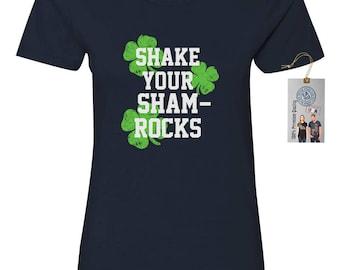 Shake Your Shamrocks St. Patrick's Day Women's Crewneck T-Shirt