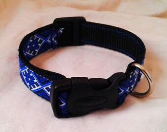 Blue. Black, White Ornament Kitten Play Collar Buckle Adjustable Bdsm Collar