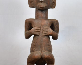 African  art tribal,beautiful luba statue from democratic republic of congo