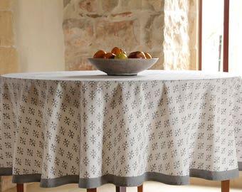 Round tablecloth, white tablecloth, boho tablecloth, tablecloth, tablecloths, table cloth, Indian tablecloth