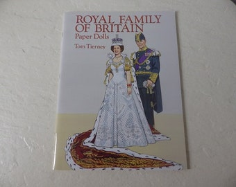 Royal Family of Britain Paper Dolls, Tom Tierney, Like new, Uncut, 1993.