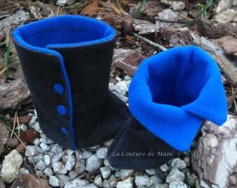 Blue set: leggings and snood 2-4 years