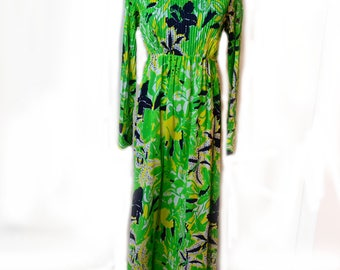 70s Lilly Pulitzer Dress Spring Maxi Dress Sz XS Sz S