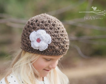 Baby Girl Hat, Girl Clothes, Crochet Hat, Flower Girl Hat, First Birthday Beanie, Baby Beanie, Beanie Hat, Gift for Women, Ladies Hat