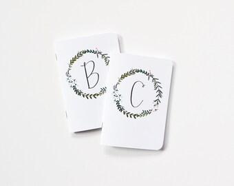 Sale | Discontinued: Monogram Garden Wreath Pocket Journal