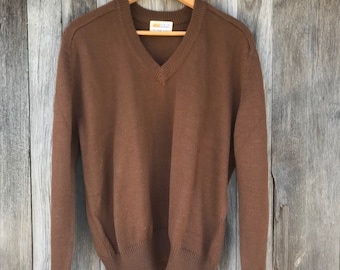 Vintage Sweater, Lightweight, 1960s, Grants, LargeFree Domestic Shipping