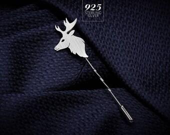 Deer Lapel Pin - Wedding Lapel Pin - Mens Lapel Pin - Custom Lapel Pin - Grooms Boutonniere