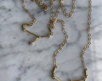 Rhinestone Constellation Necklace // Gold or Silver