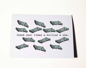 A Million Thanks Card