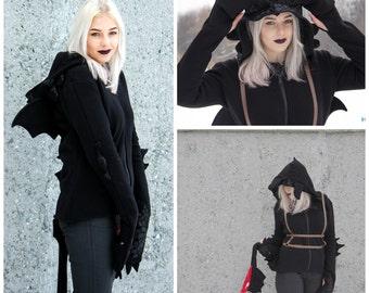 Toothless inspired hoodie Male/Female
