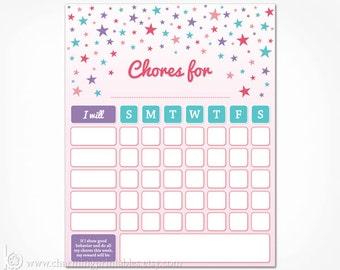 printable chore charts for teens