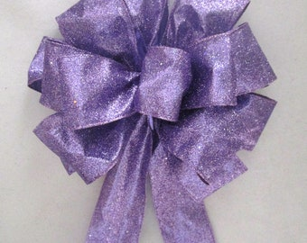Purple Bow, Christmas Bow, Tree Topper Bow, Wreath Bow, Bow Topper, Purple Bow, Christmas Tree Decoration