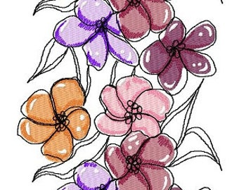 Flower Art Machine Embroidery Designs..3150