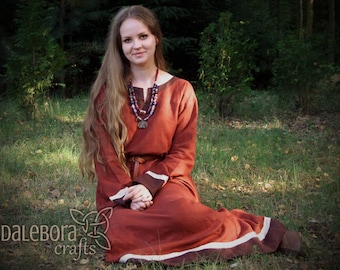Early medieval linen underdress, viking costume, reenactment