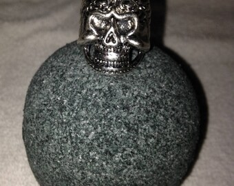 Black Bath Bomb with Skull Ring Inside