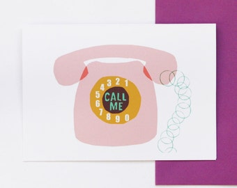 Call Me - greetings card