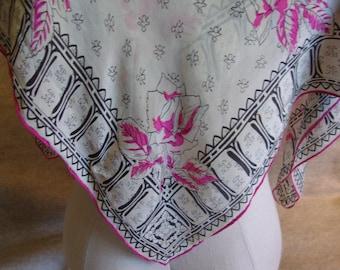 Scarf, Vintage, Silk
