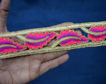 Trim By The Yard Cut Work Decorative Trims Indian Trimmings Embroidered Tapes Fabric trim embellishments Sari Border Wholesale crafting Trim