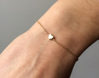 New Item! Little Heart Gold Bracelet with Tiny Heart Charm