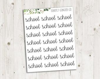 School Script - ECLP, Happy Planner, TN Planner Stickers