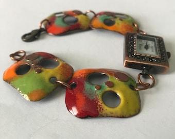 Copper Enameled Watch