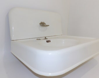Antique Folding Sink Cabinet Ocean Liner Yacht Bath Fixture