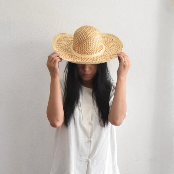 kids straw summer cone hat / rice hat / paddy hat / sedge hat