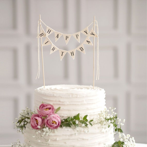 Happy Birthday Cake Banner Birthday Cake bunting Happy