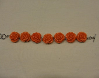 Vintage coro bracelet  salmon