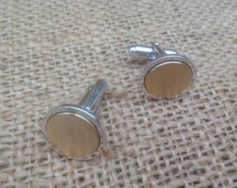 Anson Round Cufflinks Vintage Men's Jewelry Accessories