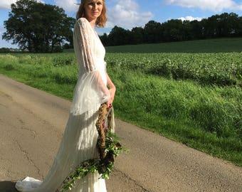 Boho, hippy, woodland, beach wedding dress'Ora'