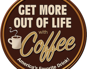Coffee Get More Life Cafe Wall Decal #40127