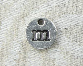 1 or 5, Initial Charm, Charm Bracelet, Lower Case Letter, Silver Letter, Initial Pendant, Alphabet Charm, Lower Case Charm, ALF021m