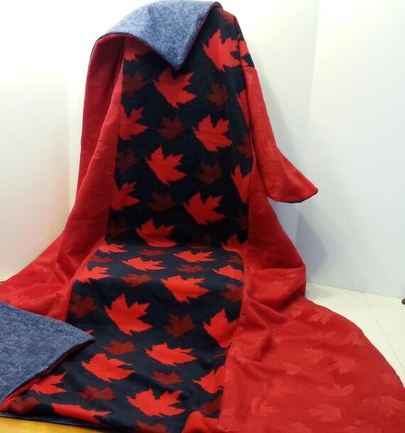 Weighted One of a Kind Canada Blanket by NancySewsCanada