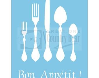 Stencil -  Bon Appetit  -  Flatware -   ST-067