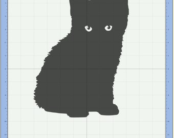 Kitten 2 Cutting file. SVG & Scut3 file formats included. Sizzix / Cricut / eCal / Sure-Cuts-a-Lot
