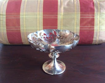 Vintage Silver Plate Candy Dish - WR-90