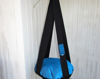 Cat Bed, Brilliant Turquoise & Black Single Kitty Cloud,  Hanging Cat Bed, Pet Furniture, Cat Tree, Gift