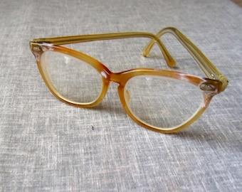 Vintage Eye Glasses Ladies Celluloid 1950s Cat Eye Frame