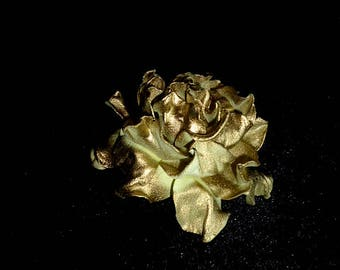 Gold flower Rose Hair Clip Wedding Rose Hair Clip Bridal Flower Hair Bridesmaid Clip Rose Floral Headpiece  barette Golden hairpiece gift