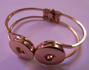 golden bracelet for 2 snap 18mm / 20mm